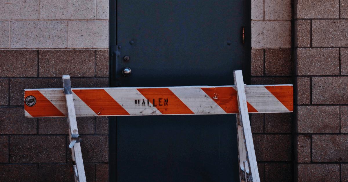 barrier on the door