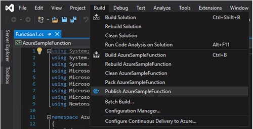 Test the Function on the Cloud