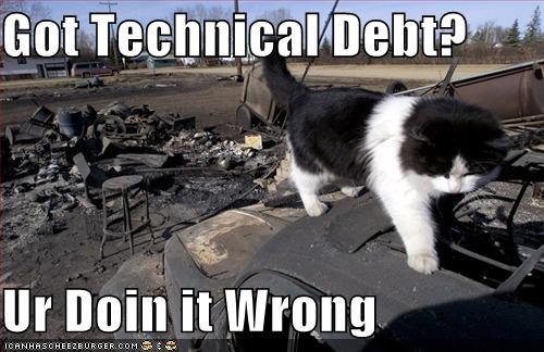 Technical debt meme