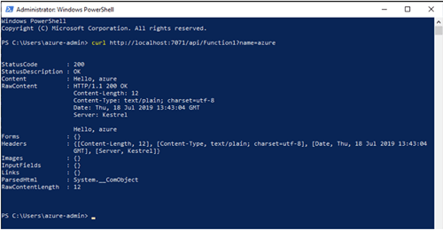 Publish the Function to Azure