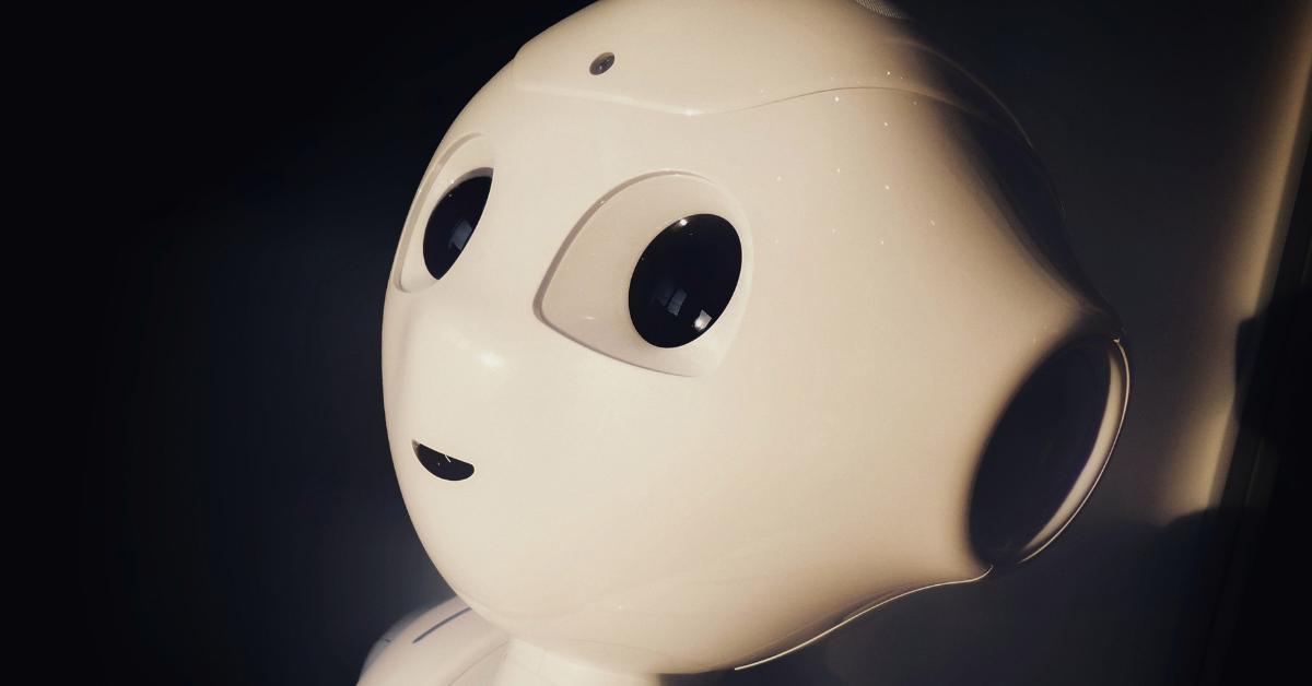 AI robot close up